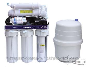 Фильтр 5-ступенчатая система ОС с насосом KCRO-5BС 50 GPD