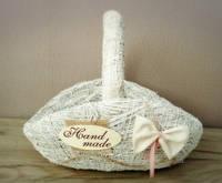 Корзина шляпа белая из соломы