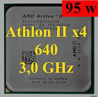 Процессор (б/у) AMD Athlon II X4 640, 3,0ГГц, Tray (ADX640WFK42GR, ADX640WFK42GM)  635 630 645