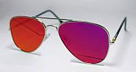 Женские  солнцезащитные очки-авиатры с цветными линзами