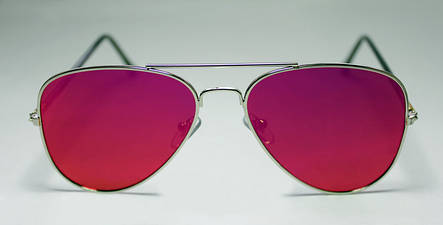 Женские  солнцезащитные очки-авиаторы с цветными линзами, фото 2