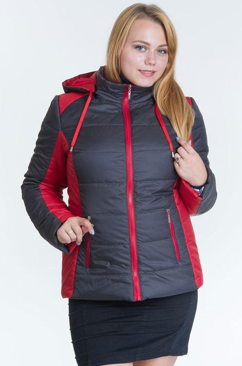 Демисезонная женская куртка модель №15, бежевый, р.44-56