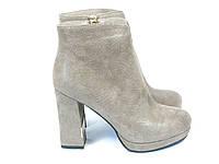 Женские стильные ботинки на каблуке