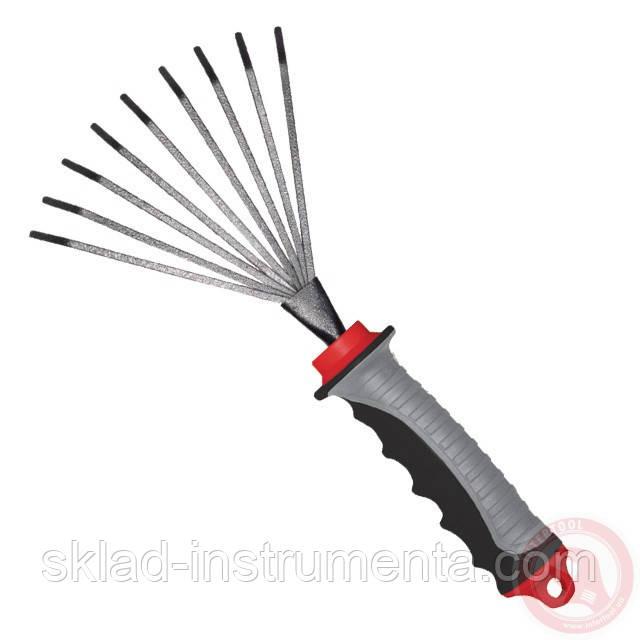 Грабли веерные 230 мм x 100 мм с комбинированной рукояткой