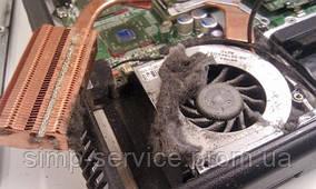 Чистка системы охлаждения ноутбука от пыли / Замена термопасты