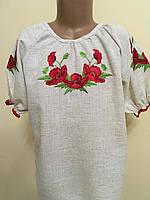 Вишита блуза для дівчинки вишита гладдю 7-8 років