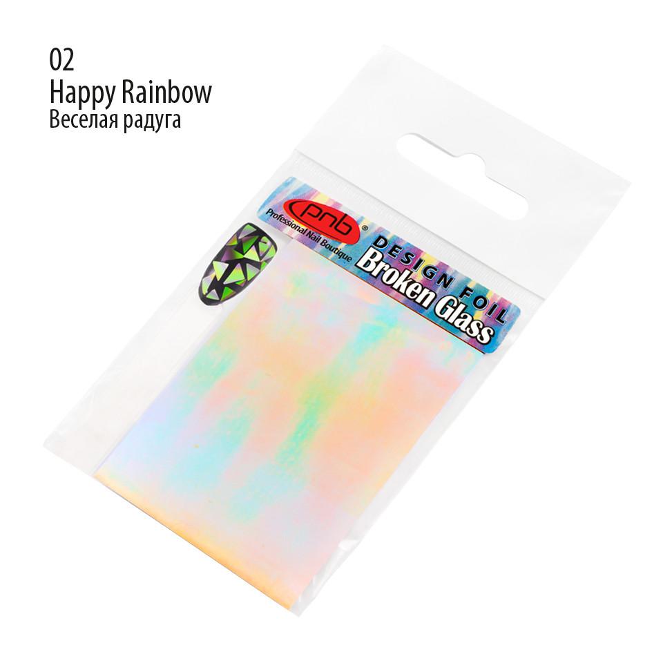 ФОЛЬГА   BROKEN GLASS PNB 02 - HAPPY RAINBOW