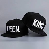 Комплект кепка снепбек King & Queen (Король и Королева) с прямым козырьком для двоих , фото 1