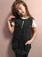 №904 модные стильные жилетки для девочек 134-164