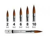 Кисть для акрила №6, красная ручка