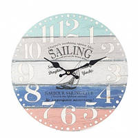 Круглые настенные часы (34см), морская тема