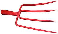 Вилы 4-х рог.копальные квадр. усилен.краш.красные