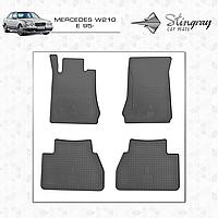 Коврики резиновые в салон Mercedes W210 E c 1995 (4шт) Stingray