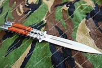 Нож складной баллисонг мафия ,деревянные накладки,двойная заточка