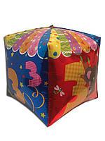 """Шарик фольгированный кубик """" Тройка """" , высота 50 см"""