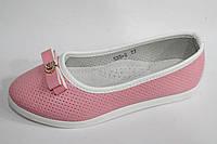 Детские туфельки для девочек оптом от фирмы Yalike 535-2 розовый (8пар, 27-32)