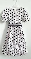 Летнее платье Yamila белое в горошек, для девочки
