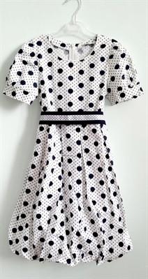 279a1b05b91 Летнее платье Yamila белое в горошек