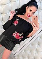 Красивая вышитая блузка женская
