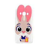 Силиконовый чехол Зверополис Rabbit Meizu M5