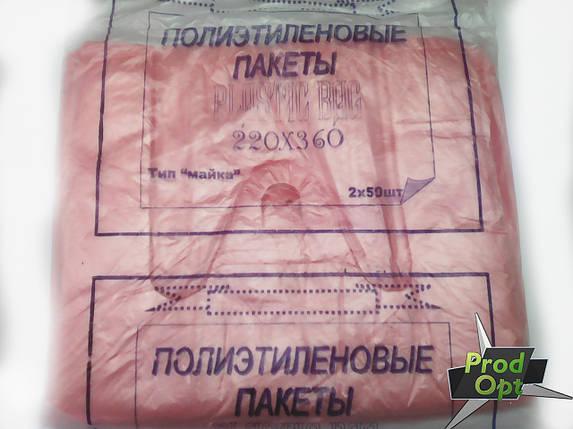 Пакет майка (220*360) 100 шт, Plastic Bag   , фото 2