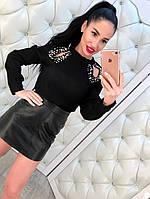 Блузка женская с бусинами