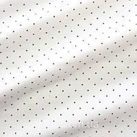 Трикотажное полотно кулир хлопок / эластан пенье, точки на молочном