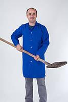 Мужской повседневный рабочий халат синего цвета. Опт и розница