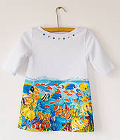 Платье с ручной росписью Рыбки, фото 1