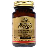Solgar Biotin Солгар, Биотин, 300 мкг, 100 таблеток