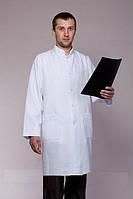 Габардиновый мужской медицинский халат за колено