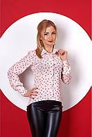 Розовая рубашка с мелкий принт