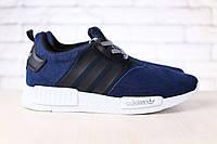 Мужские кроссовки, синие, комбинированные: натуральная, кожа, замша, тесктиль, на шнурках