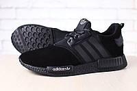 Мужские кроссовки, черные, комбинированные: натуральная, кожа, замша, тесктиль, на шнурках