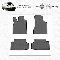 Коврики резиновые в салон Mercedes Sprinter II c 2006 (3шт) Stingray