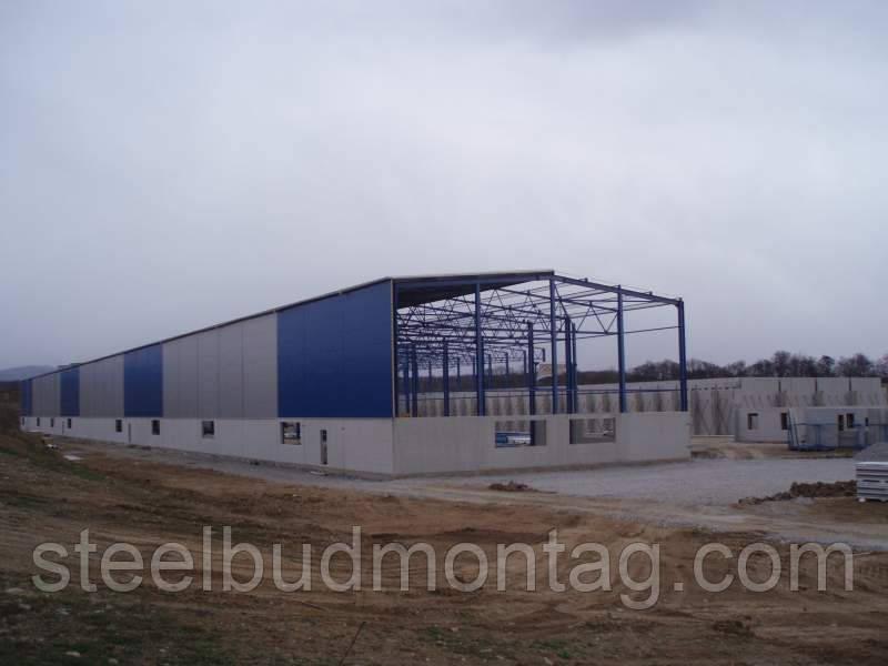 Будівництво виробничих приміщень.
