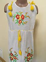 Сукня сарафан вишита для дівчинки 7-8 років