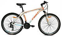 Велосипед горный Fort  Discovery 26 » Alioy  бело-оранж 2016(матовый)