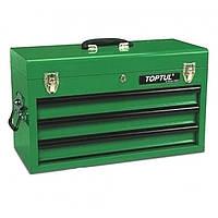 ✅ Ящик для инструмента 3 секции 508(L)x232(W)x302(H)mm TOPTUL TBAA0303