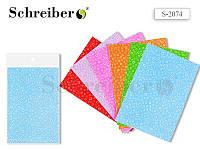 Ткань самоклеящаяся, А4 (21х30 см), ЦВЕТОЧЕК, цвета в ассортименте