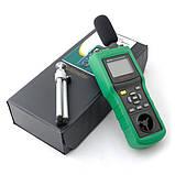 Mastech MS6300 5 в 1: шумомір, анемометр, термометр, люксметр і гігрометр, фото 7