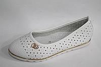 Детская обувь оптом. Туфли на девочек с перфорацией от производителя Yalike 511-3 белый (8пар, 30-37)