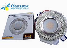 Світильник вбудований з LED підсвічуванням Feron 7314 під лампу Mr16, фото 3
