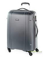 Дорожный чемодан из поликарбоната на 4-х колесах (большой) Puccini PC015 8804 серого цвета