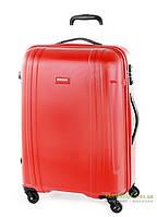 Дорожный чемодан из поликарбоната на 4-х колесах (большой) Puccini PC015 8804 красного цвета