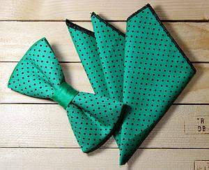 Галстук-бабочка + платок в пиджак (011115), фото 2