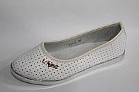Детские туфли на девочек с перфорацией от производителя Yalike 511-6 белый (8пар, 30-37)