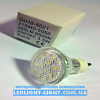 Светодиодная лампа GU-10 3.5 W, 21 Led 5050 Epistar,6500K
