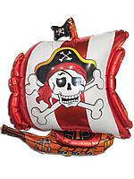 Фольгированный воздушный шарик пиратский корабль 65 х 52 см.
