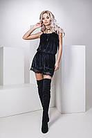 Женский летний комбинезон шортами с кружевом .Материал бархат, кружево. Размер см,мл.